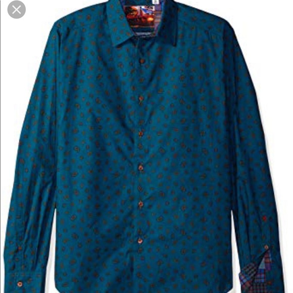 3024d5c2ba1 ROBERT GRAHAM shirt top button down XL